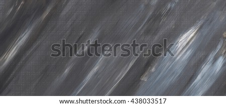 Grey abstract hand drawn acrylic background, raster illustration. Grunge paper. Paint stain, paints blot. - stock photo