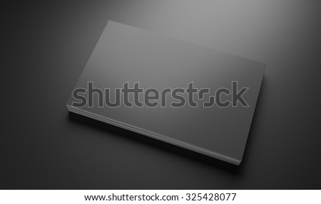 Grey business cards mockup template on dark background - stock photo
