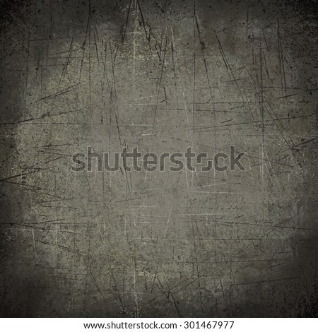 grey dark scratches wall - stock photo