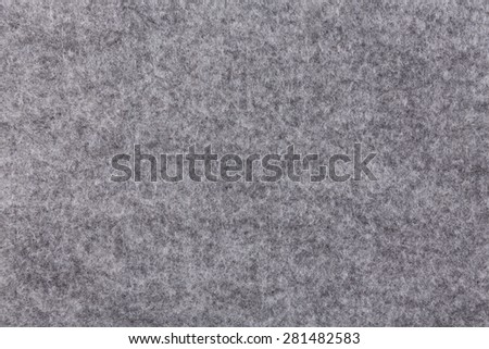 Grey felt material as a background or texture - stock photo