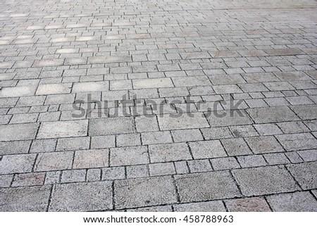 Grey floor made of stone texture background - stock photo