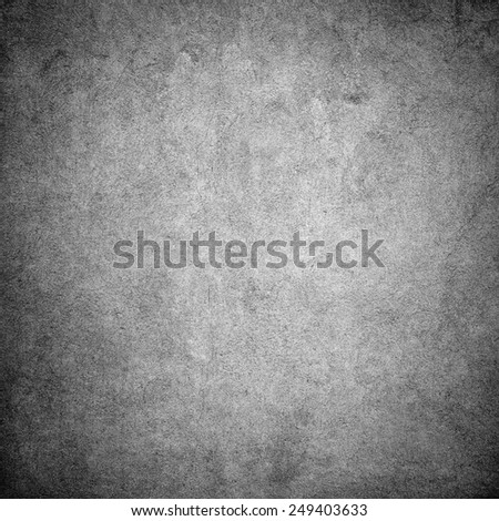 Grey grunge concrete wall background - stock photo
