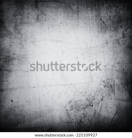 Grey grunge textured wall. Copy space. - stock photo