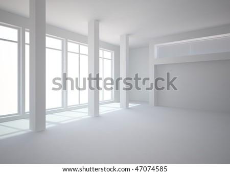 grey interior - stock photo