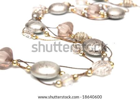 grey jewelry isolated on white - stock photo