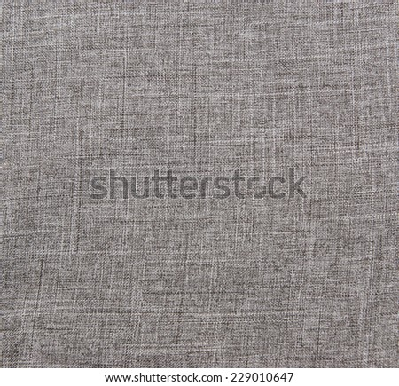 Grey linen natural fabric background - stock photo