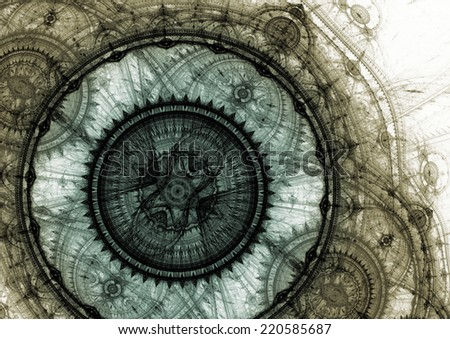 Grey mechanical background - stock photo