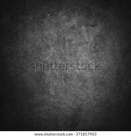 Grey or black grunge concrete solid wall background - stock photo