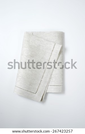 grey place mat on white background - stock photo