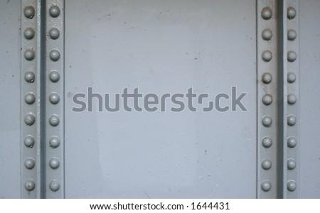 Grey rivets - stock photo