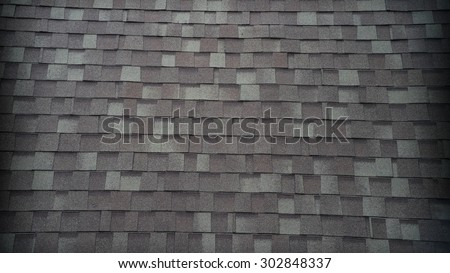 Grey roof tiles - stock photo