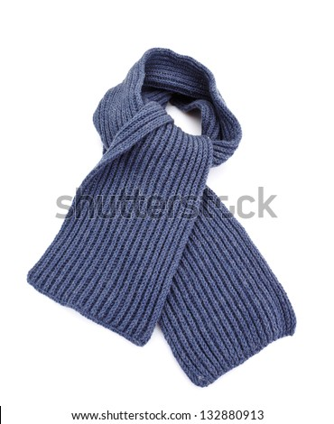 grey scarf isolated  on white - stock photo