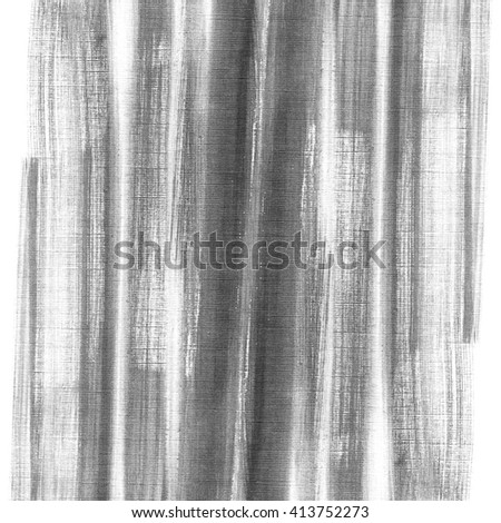 Grey silver abstract watercolor macro texture background. Abstract aquarelle texture grayscale on white watercolor paper. Hand drawn stripes. - stock photo