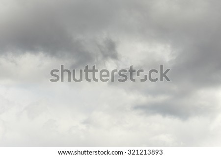 Grey sky. Nature background - stock photo