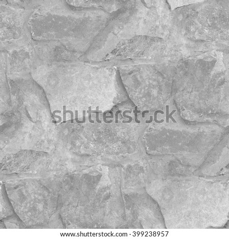 grey stone wall texture background seamless pattern - stock photo