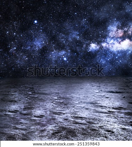 Grey Surface of the Moon - Elements of this Image Furnished by NASA - stock photo