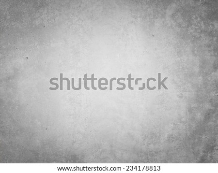 Grey textured background with marks of erosion in the middle - stock photo