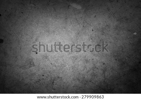 Grey wall background. Dark edges - stock photo