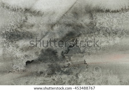 grey watercolor painted on paper background texture - stock photo