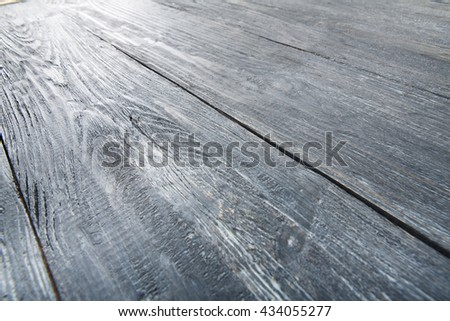 Grey wood texture and background. Grey blue wood texture background. Rustic, old wooden background. Aged wood planks texture pattern. Wooden surface. Vertical image. - stock photo