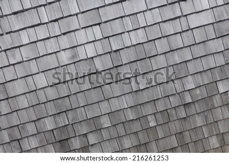 grey wooden roof - stock photo