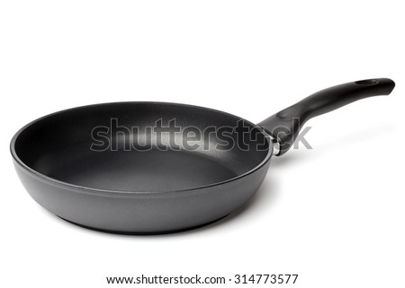 Griddle on white background - stock photo