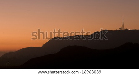 Griffith Park Sunset - stock photo