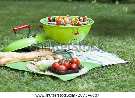 grill and bbq party - stock photo