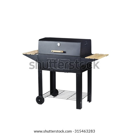 Grill on charcoal - stock photo