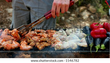 Grilled barbeque - stock photo