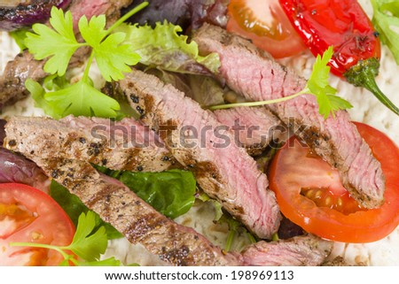 Grilled Beef Wraps - Griddled sirloin steak, sliced and wrapped in a ...
