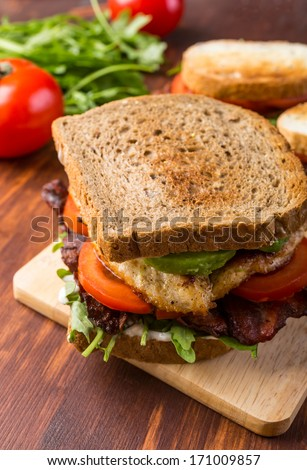 Grilled BLT Bacon, Lettuce and Tomato Sandwiches with Chicken and ...