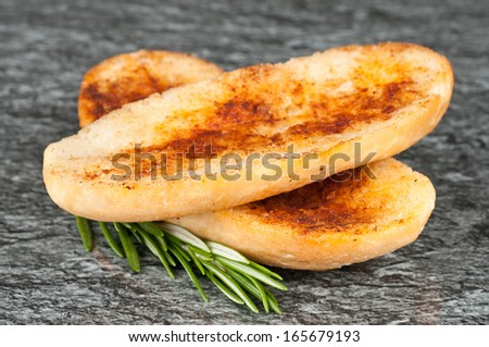 Grilled bread - stock photo