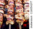 grilled caucasus barbecue close-up - stock photo