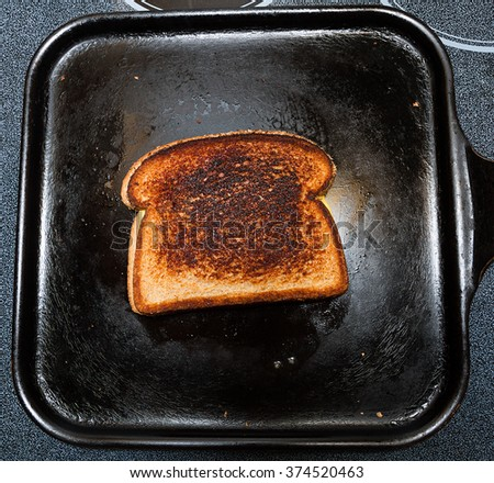 Grilled cheese on a pan ready to be eaten - stock photo