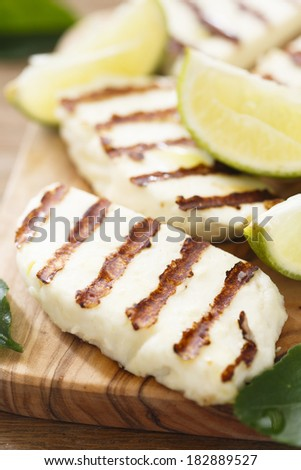 Grilled cheese with kaffir lime - stock photo