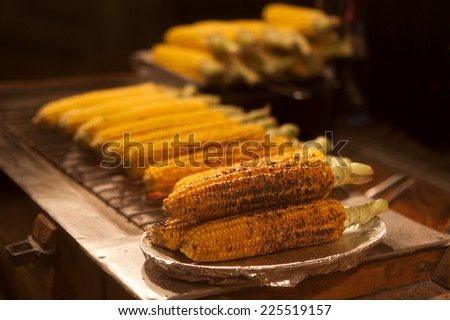 Grilled corn - stock photo