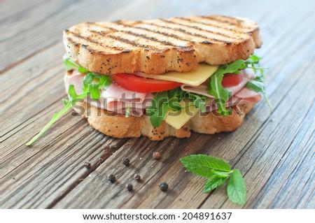 Grilled deli sandwich  - stock photo
