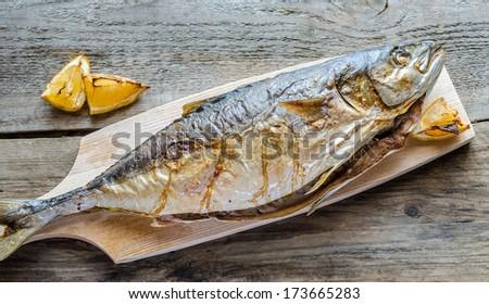 Grilled Japanese amberjack fish - stock photo