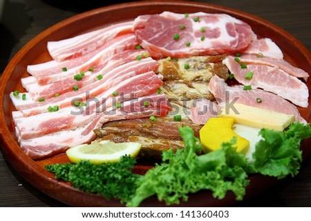 Grilled Pork Korea. - stock photo
