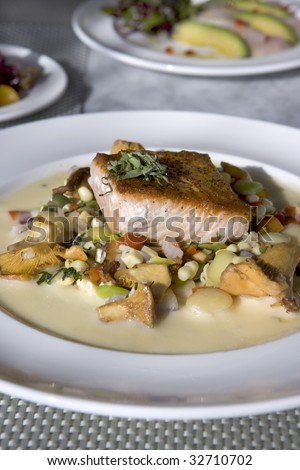 Grilled Salmon Dish - stock photo