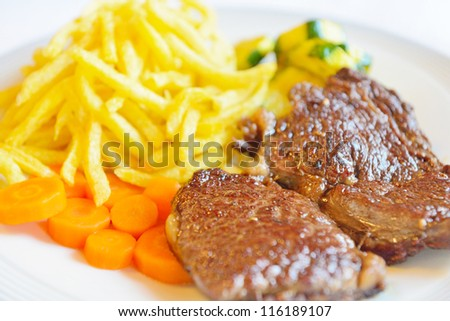grilled steak - stock photo