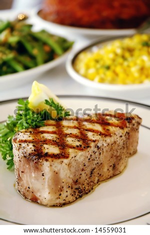 Grilled Swordfish Steak - stock photo