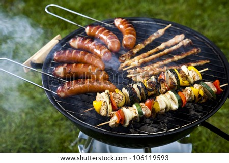 Grilling time, Grill - stock photo