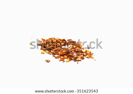 Grinded chilli - stock photo