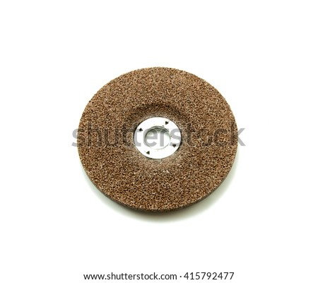 Grinding disc on the white background - stock photo