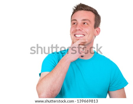 Grinning young man - stock photo