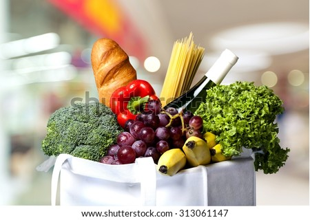 Grocery Shopping. - stock photo