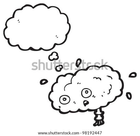gross brain cartoon - stock photo