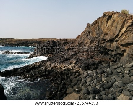 Grotto. Tenerife, Canary Islands. Spain - stock photo
